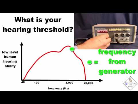 find out your frequency hearing threshold a science with bobert video short