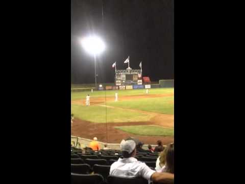 Jake Luce hammers a solo shot vs. the Fort Worth Cats