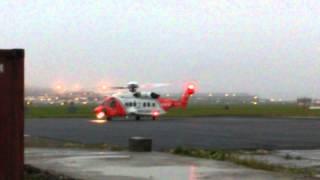 Irish coastguard take off up close