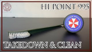 Hi-Point 995TS take down and cleaning
