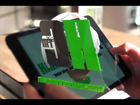 animated 3D Harris Commerce company logo in HD