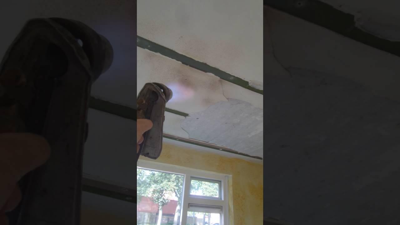 Extreem Tip Stucwerk verwijderen van plafond - YouTube YO77