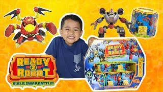 Ready 2 Robot toy unboxing, robot surprise toys, SLIME toy surprise, Ready 2 Robot toy review