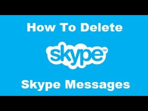 How To Delete Skype Messages from YouTube · Duration:  2 minutes 9 seconds