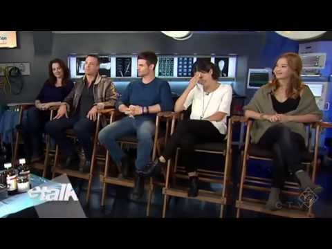 The cast of Saving Hope on eTalk  Nov. 25, 2014