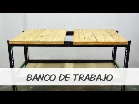 Como hacer un banco de trabajo youtube for Como hacer un bando para cortinas
