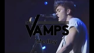 The Vamps playing Vegas Girls/Locked Out Of Heaven/Somebody To Love...