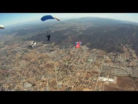 Amazing Linked Wingsuit/ Parachute Skydive, XRW2