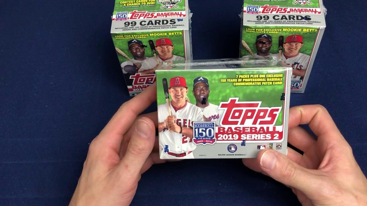 2019 Topps Baseball Series 2 Walmart Blaster 3 Box Break