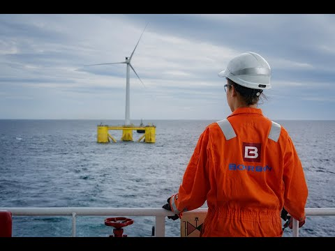 Installing North Sea's first semi submersible floating wind