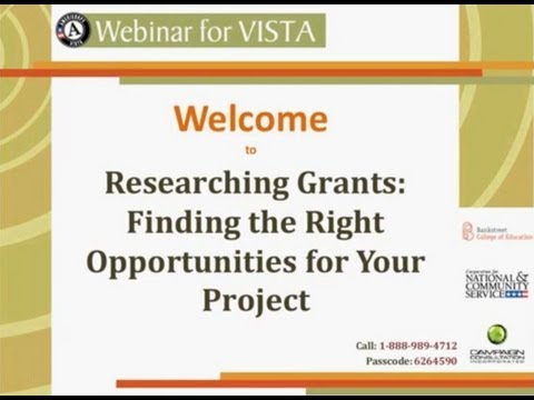 Researching Grants