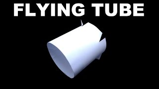 How to Make The Nigahiga Flying Tube, flying ring, vortex flyer