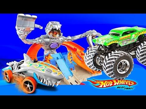 Хот Вилс Машинки игрушки треки нитробот