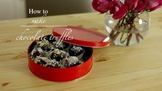 How To Make Chocolate Truffles : Easy Recipe