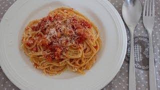Pasta Ricetta: Spaghetti Al Sugo Con Pancetta E Peperoncino (per Due)