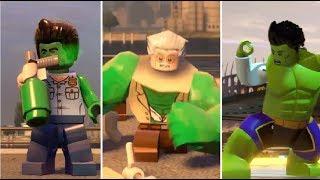 All Hulk Transformations in LEGO Marvel Videogames(2013-2018)