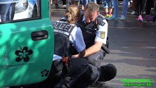 POLIZEI + Verkehrskontrollen + EIGENSCHUTZ + Überwältigung eines Täter + FESTNAHME | [V]