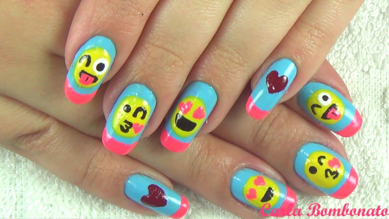 Aparador Azul Turquesa Mdf ~ Unhas de Emoji Passo a Passo YouTube