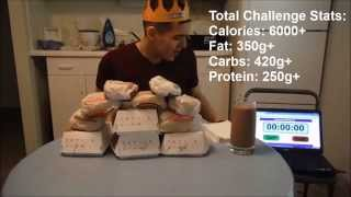 Burger King s eat like a king challenge | 11 burgers (6000+ calories of artery clogging burgers!)