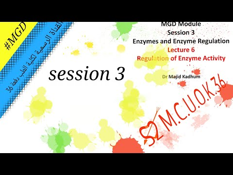 MGD  -session 3 Lecture 2 Regulation of enzyme activity