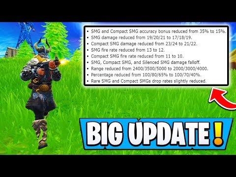 *NEW* Fortnite Today's UPDATE Explained! | Big Changes! ( SMG Hot Fix )