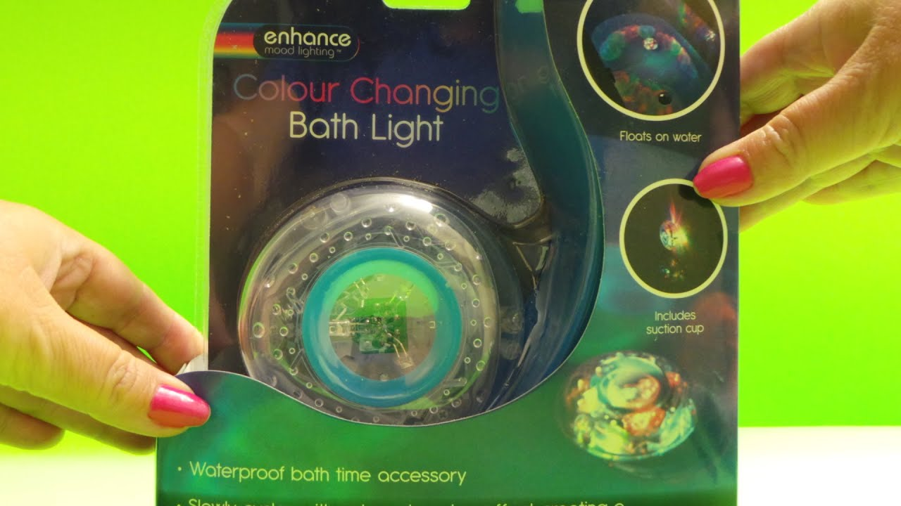 Color Changing LED Bath or Spa Light unboxing & Pool Test - YouTube