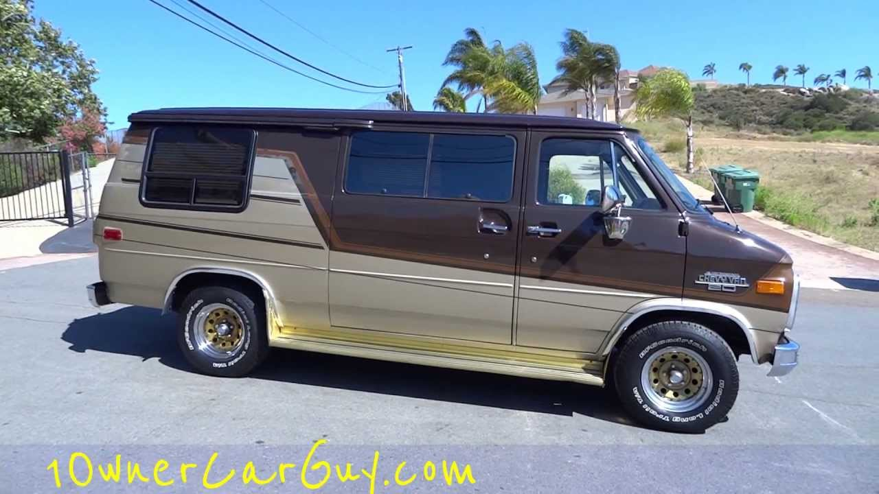 Chevrolet G20 Conversion Van RED E KAMP Campervan Custom Camper RV 65000 Miles Video Review