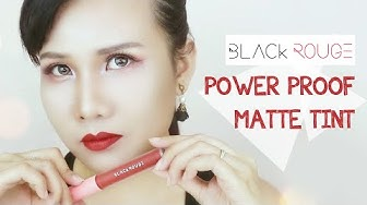 [ENGSUB] [REVIEW] BLACK ROUGE ALL DAY POWER PROOF MATTE TINT | Annangocmakeup