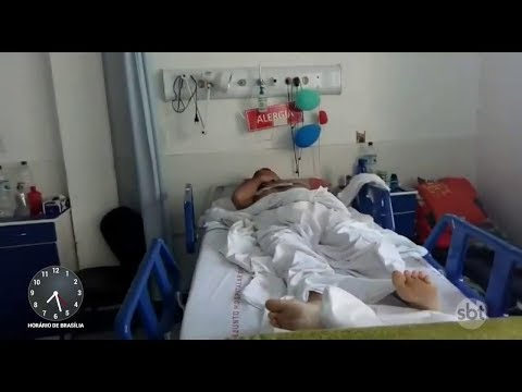 Homem aguarda cirurgia há 2 meses por falta de material hospitalar   Primeiro Impacto (01/03/18)