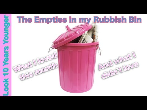 The Empties in my Rubbish Bin