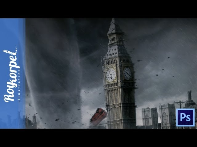 #Photoshop manipulation time lapse - MONSTER TORNADO IN LONDON