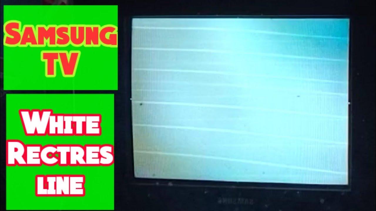 Samsung CRT TV White Rectres line, No picture Sound Ok ...