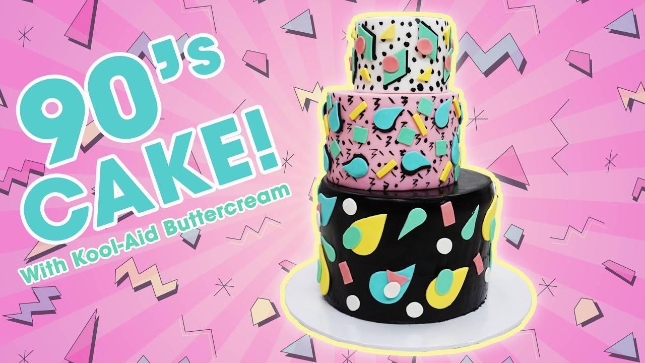Retro 90's Cake w/ Kool Aid Buttercream- YOU'VE BEEN DESSERTED