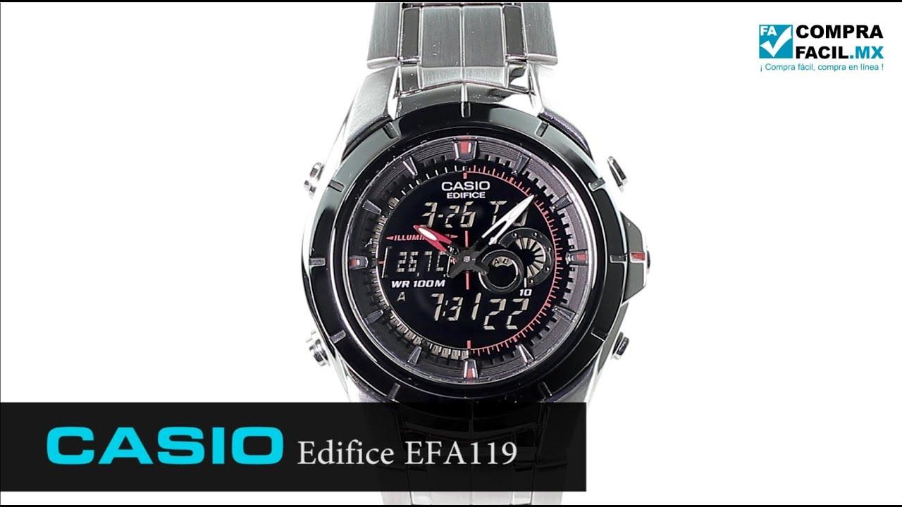 ba644672aee2 Reloj Casio Edifice EFA119 Metal - www.CompraFacil.mx - YouTube