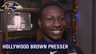 Hollywood Brown on His Expectations for First Playoff Game | Baltimore Ravens