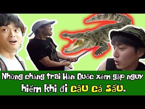 [HQO]Những chàng trai Hàn Quốc đi câu cá sấu !! 악어를 낚으러 베트남 놀이동산에 간 한국오빠들