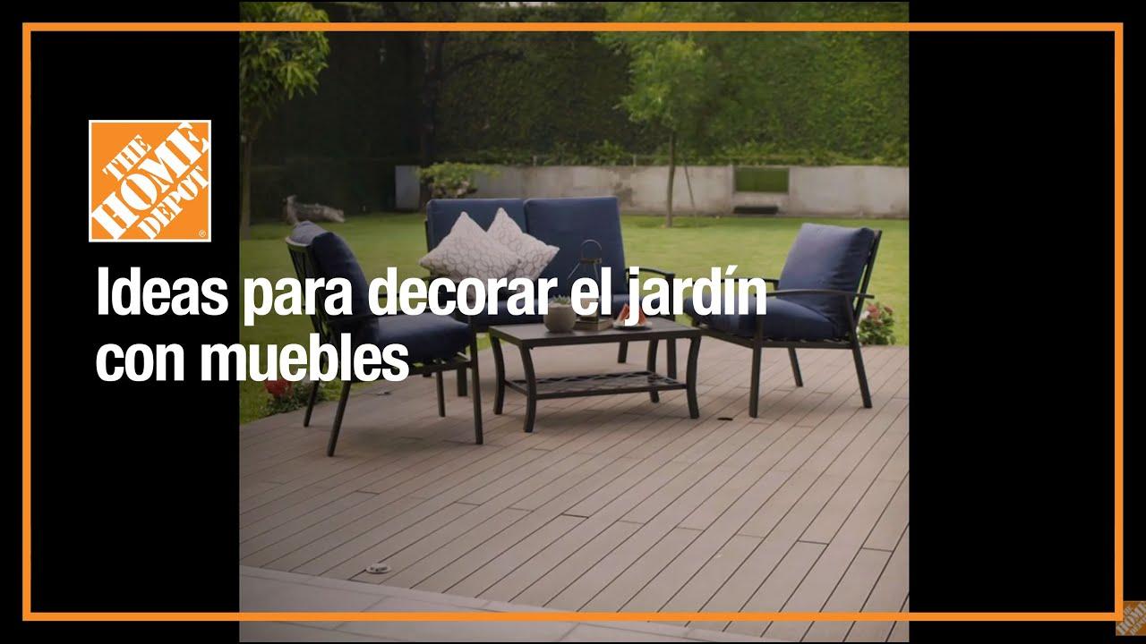 como crear un espacio acogedor con muebles de jardin