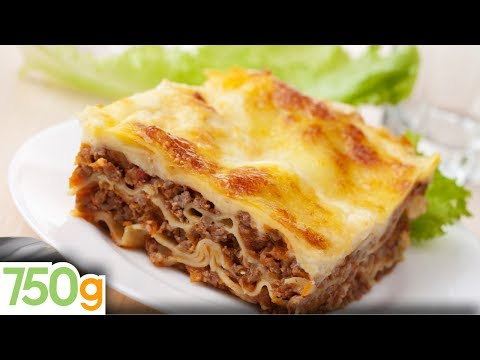 Recettes de lasagne bolognaise maison / Homemade lasagna - English Subtitles - 750 Grammes