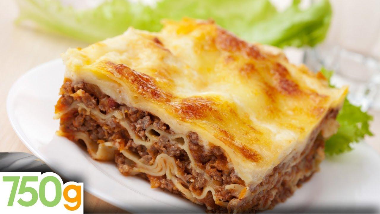 Recettes de lasagne bolognaise maison homemade lasagna - Herve cuisine hamburger ...