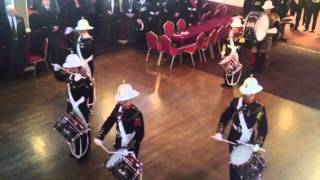 Royal Marine Drummers Pay Respect To Fallen Marine