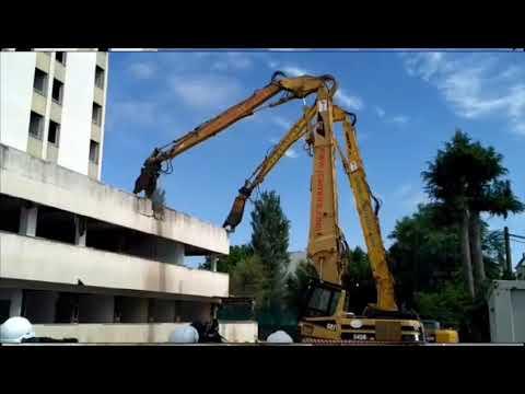 Arranca la demolición del hospital Xeral de Lugo