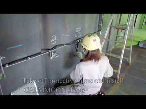 CALMMOON Sheet Vessel Construction Video. [Chapter 1]0.Preparation~3.Paste the sheet