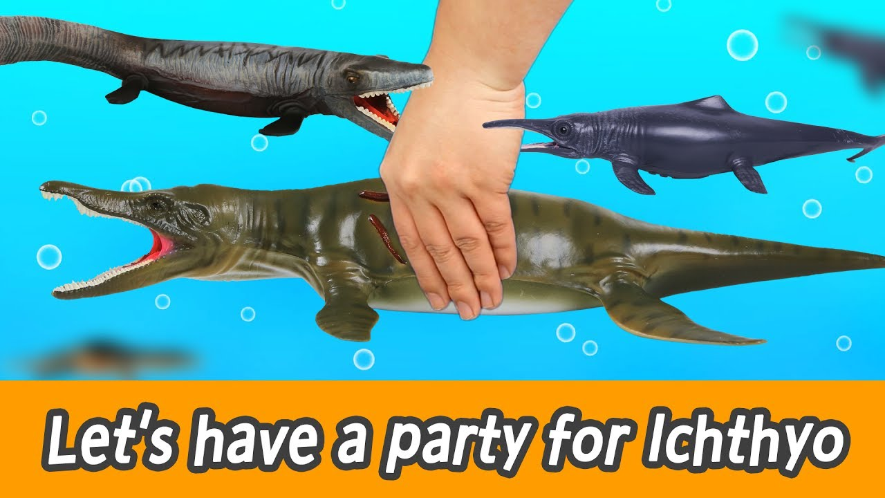 [EN] #92 Let's have a party for Ichthyosaurus , learn insects, animals nameㅣCoCosToy