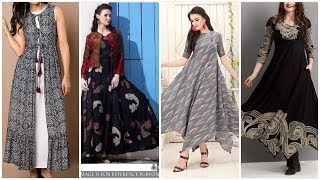 Latest Frocks Style For Casual Ware//Chiffon Long Frocks Designs 2019