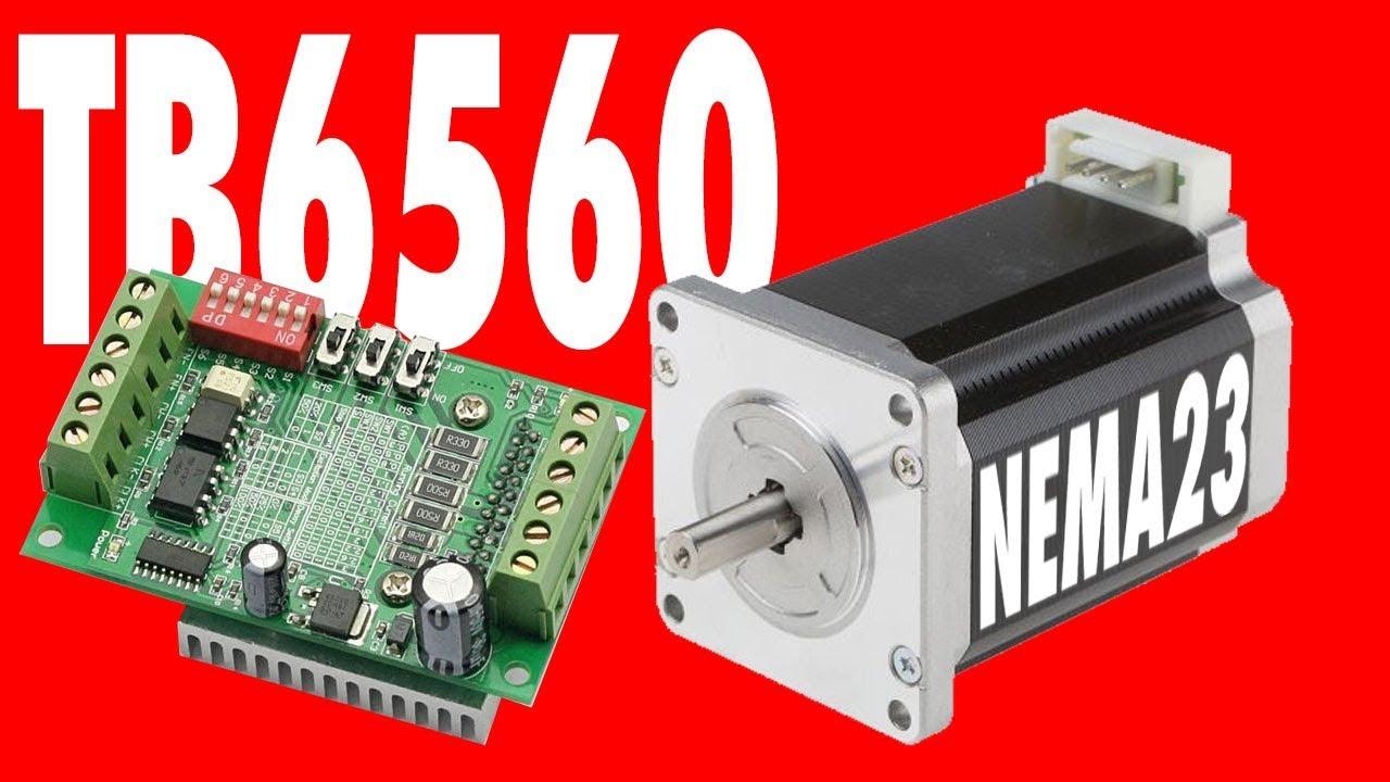 Tb6560 Nema 23 Arduino Tutorial Youtube
