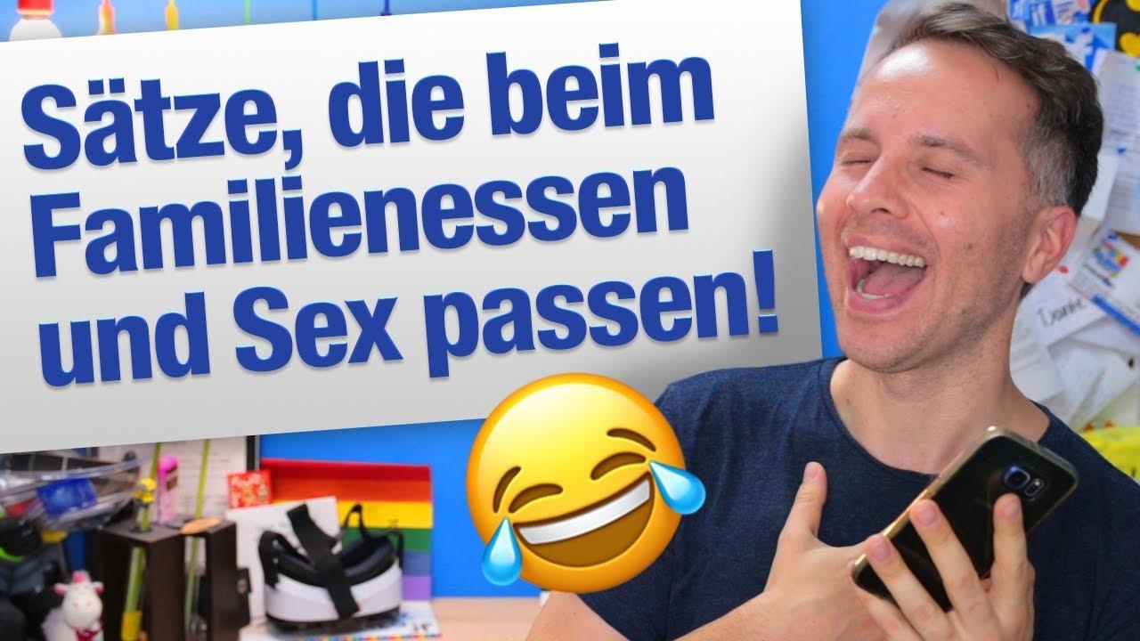 Sprüche beim Sex und Familienessen | jungsfragen.de - YouTube
