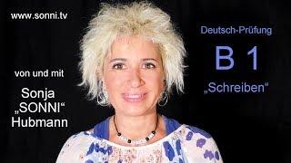 """Deutsch-Prüfung B1 """"Schreiben"""" (von und mit Sonja Hubmann)"""