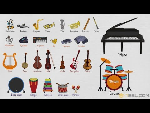 Musical Instruments Vocabulary in English | Learn Musical Instrument Names