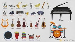 Musical Instruments Names: Useful List of Musical Instruments in English with Pictures