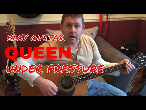 Under Pressure - Queen - Acoustic Guitar Tutorial